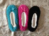 3つのカラー女性の冬の屋内靴