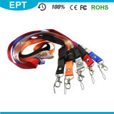 Polyester Cheap Custom Printing Lanyard Neck Strap USB Flash Drive