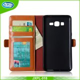 PU Leather Card Slots Cell Phone Case para Samsung