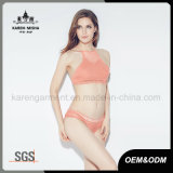 固体Color Beach Wear Knitted Sexy Bikini Lingerie女性
