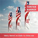 Vlag van het Strand van de Polyester van sporten de Promotie met Aluminium Pool
