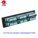 1u 6 Cores Rack Mount Fiber Optic Patch Panel