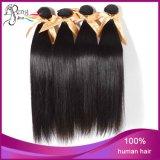 カラーStrightの自然な100%年のバージンのRemyの人間の毛髪は束を編む