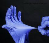 Luvas livres do nitrilo de Garde da examinação do pó descartável
