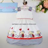 Платье цветка маленьких девочек симпатичного печатание высокого качества безрукавный