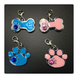 Cat di Print Jewelry Metal Diamond Footprints Jewelry della zampa di DIY Pet e zampa Print Jewelry di Dog