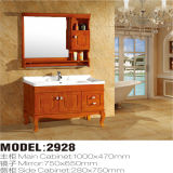 Side Cabinet를 가진 현대 High Quality Solid Wood Floor Standing Bathroom Vanity