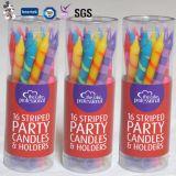 Nuevo estilo que canta el feliz cumpleaños modificado para requisitos particulares velas espirales decorativas