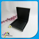 Поддельный кожа черноты Углерод-Волокна внутри деревянного роскошного комплекта коробки ювелирных изделий