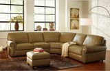 Sectional moderno Genuine Leather Sofa con Corner