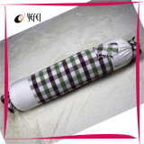 綿の糸は点検した装飾的なメモリボディベッド旅行ソファーの枕を染まった