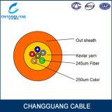 Cable óptico de interior de fibra de la base Om3 de GJFJV 12