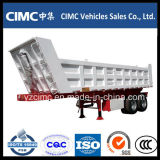 Cimc 3-Axle 30~35m3 Kipper-Speicherauszug-Schlussteil mit niedrigstem Preis halb spitzend
