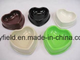Tazón de fuente de bambú biodegradable del perro de la potencia del alimentador del tazón de fuente del animal doméstico