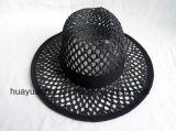 Sombreros de papel Crocheted del safari del estilo del ocio de la paja