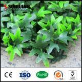 Garten-Dekoration PVC-überzogener grüner künstlicher Pflanzenzaun
