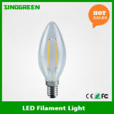 Volles Glass 400lm 4W E14 LED Filament Candle Bulb
