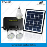 sistema 4W Home solar portátil com 3 o bulbo do PCS 1W e o carregador do telefone