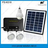 портативная солнечная домашняя система 4W с 3 шариком PCS 1W и заряжателем телефона