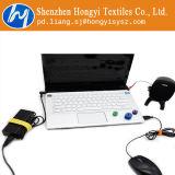 Mehrfachverwendbarer selbstsichernder Haken-und Schleifen-Flausch-Kabelbinder