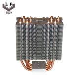 Radiateur en aluminium d'éclairage LED de pipe d'en cuivre d'ailette de haute énergie