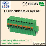 Conetor Pluggable do PWB dos blocos Ll2edgkdh-5.0/5.08 terminais
