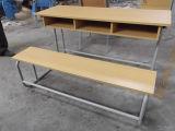 Bureau et banc scolaire à 3 sièges en bois (SF-40D)