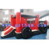 Base gonfiabile di salto della trasparenza del PVC del piccolo camion/giocattoli gonfiabili di rimbalzo belli del castello