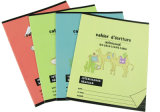 Книги тренировки школы с тетрадью студента штапеля Binding