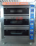 Four en pierre électrique de convoyeur de pizza de paquet du traitement au four 3 à vendre (ZBA-306D)