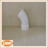 Encaixe de tubulação plástico com alta qualidade 3 polegadas cotovelo de 45 graus