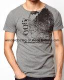 T-shirt rond de vente en gros de cou de douille de short de l'été des hommes d'impression de mode