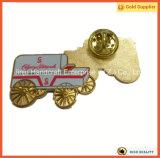Colores duros del esmalte de la divisa del Pin de la solapa del oro de Gowlings con la impresión (JINJU16-032)