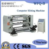 Roll Plastic Film를 위한 수직 Automatic Computer Control Slittier Machine