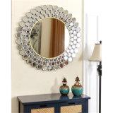 熱い販売のホーム装飾のためのハンドメイドの円形のベニスによって組み立てられる壁装飾的なミラー