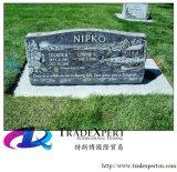Het Europese Graniet /Marble van de Stijl met Rechte Grafsteen, Grafsteen