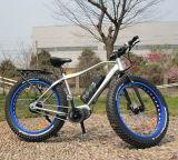 """26台の"""" 4.0台のブラシレス脂肪質のタイヤの電気マウンテンバイクまたは自転車500Wモーターを備えられる中間駆動機構モーター"""