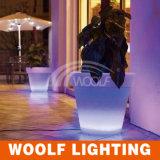 16のカラーはLEDの植木鉢再充電可能なLEDの鍋ライト、LEDの軽い鍋を変更した