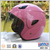 De roze Open Helm van de Motorfiets van het Gezicht voor Dame (OP202)