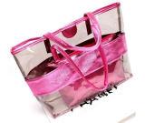 Damen PVC Handbag Shoulder Beach Bag mit Matching Pouch