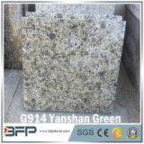 Granit vert en pierre normal de carrelage de la Chine pour le plancher/mur/escaliers/attache de guichet