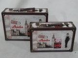 Antiker hölzerner Fertigkeit-Koffer (SCSC00023)