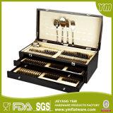 24PCS couverts en inox, Flatware Set avec la boîte en bois