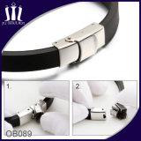 Silikon-Armband mit 2 Ton-Edelstahl Identifikation-Marke für Männer