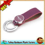 Heißes kundenspezifisches ledernes Keychain mit Metall (TH-05064)