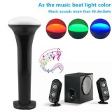 Color Multi-Function Changeable pelo diodo emissor de luz Flashlight do USB Rechargeable de Music Control SOS Lamp