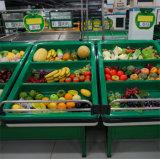 Cremalheira da prateleira de indicador da fruta e verdura do metal do supermercado