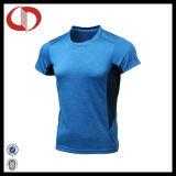 T-shirts du fonctionnement et des sports de quatre de couleur hommes de polyester