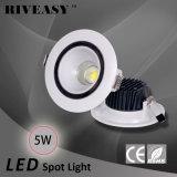 éclairage en plastique de RoHS DEL de lampe de Downlight de projecteur de 5W DEL de la CE légère de BRI