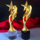 Oscar Award Crystal Metal Trophy voor de Herinnering van de Muziek